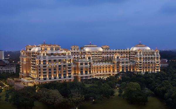 The exterior architecture and design of the sustainable hotel ITC Grand Chola, Chennai, by ITC hotels