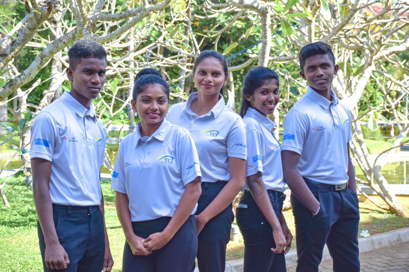 Group of students from TUI Academy Sri Lanka - youth employment project from Sustainable Hospitality Alliance