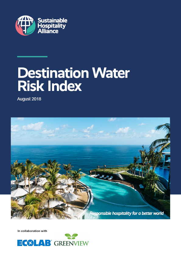 The Destination Water Risk Index offers evidence and guidance for hotel companies, developers and their stakeholders to prioritise water stewardship in investment, development and renovation decisions, as well as hotel management in high risk destinations.