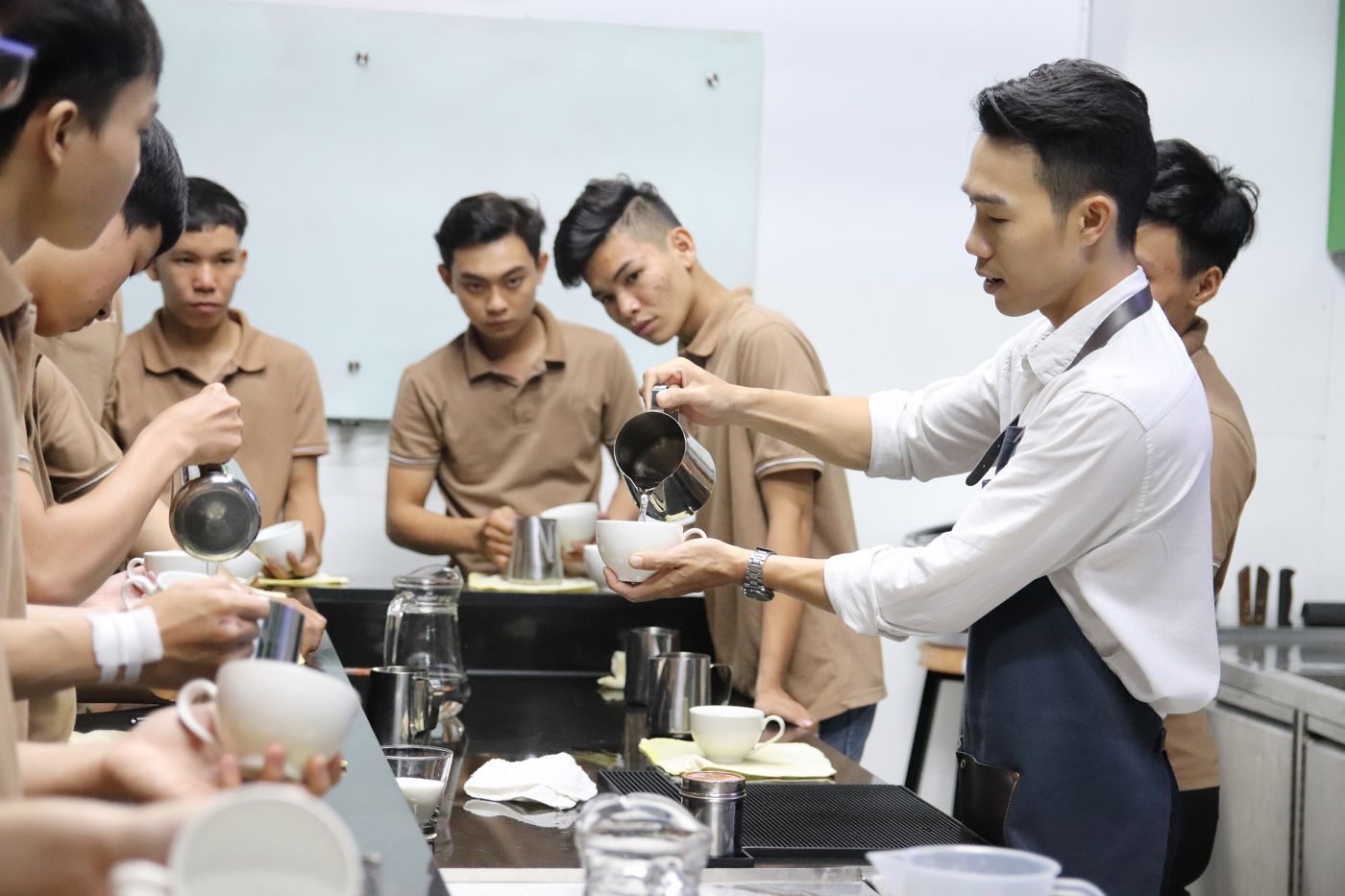 Youth training programme for employment in hospitality food and beverage F&B