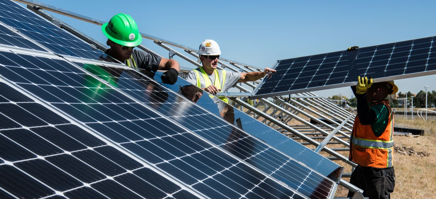 Solar panels being installed to take action on carbon