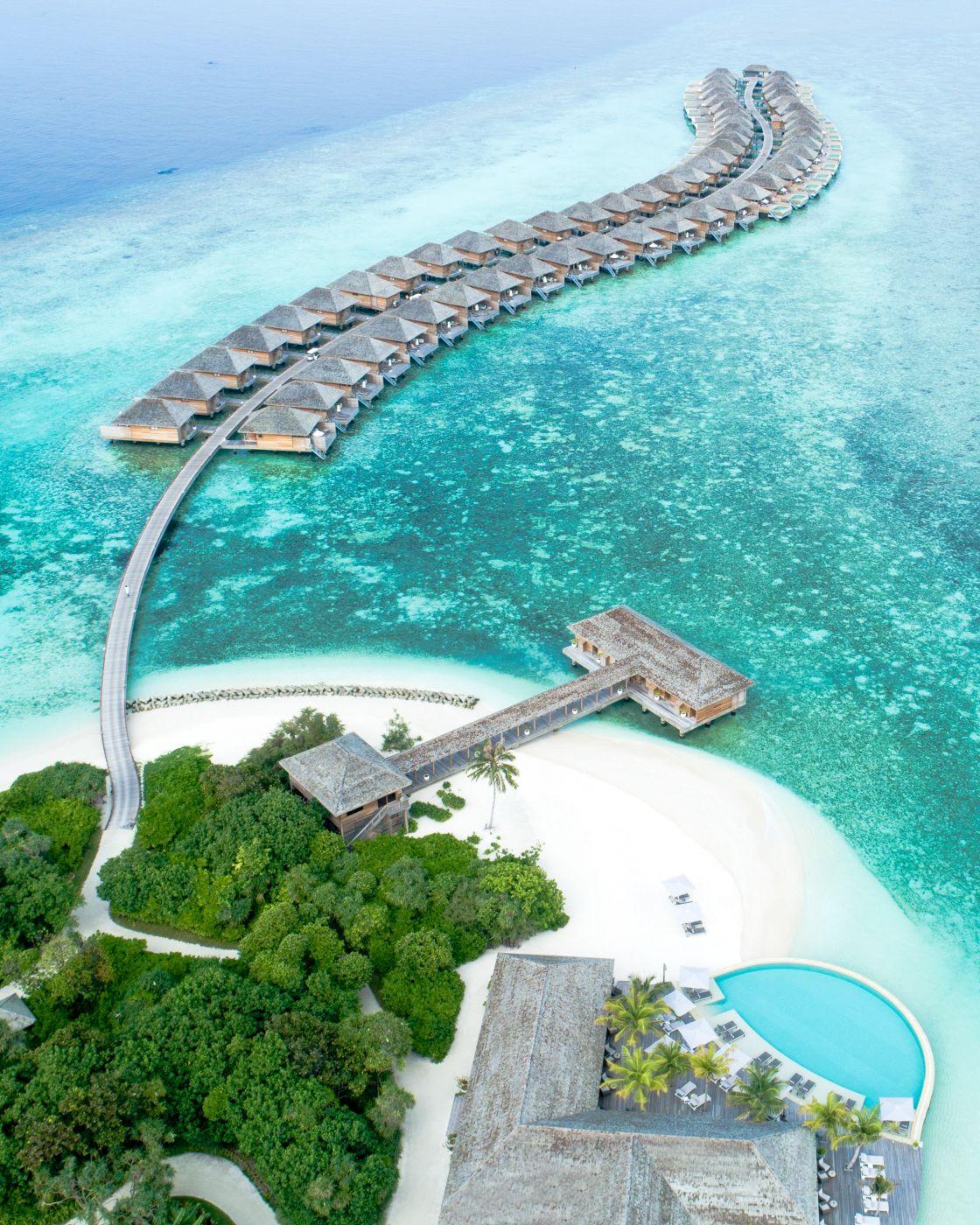 Hotel resort on a island nation