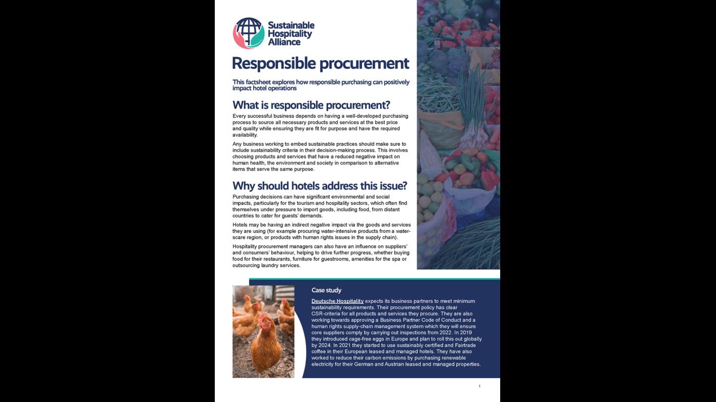 Responsible procurement factsheet cover