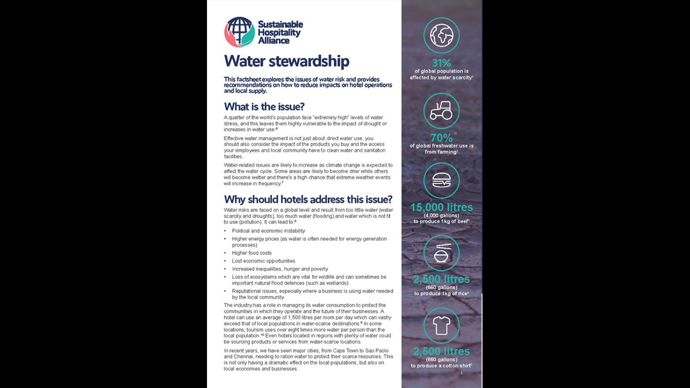 Water stewardship factsheet cover