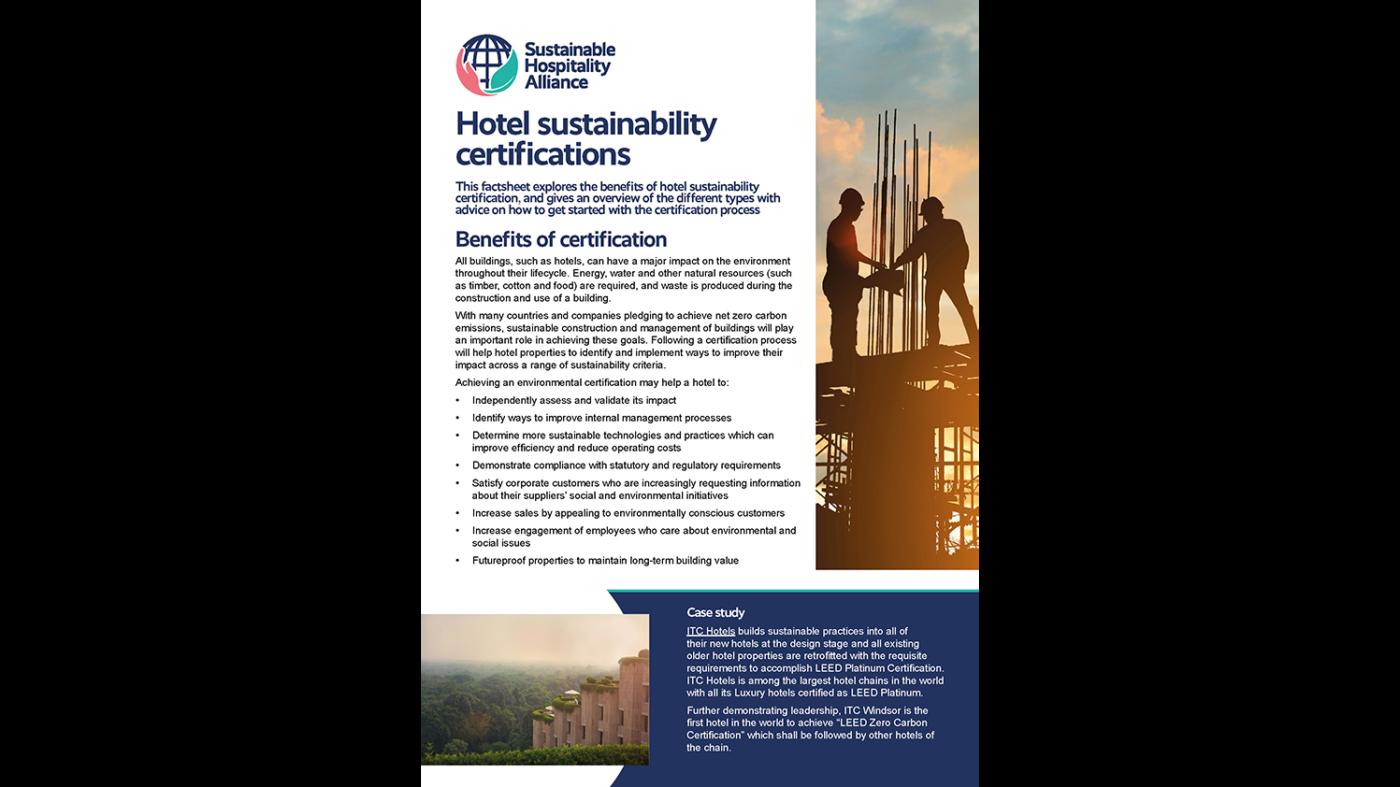 Certifications factsheet