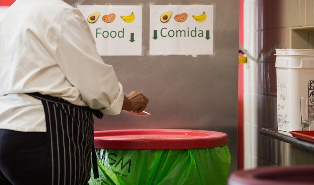 Bins signage for food waste